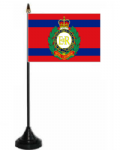 Royal Engineers Corps Desk / Table Flag with plastic stand and base.